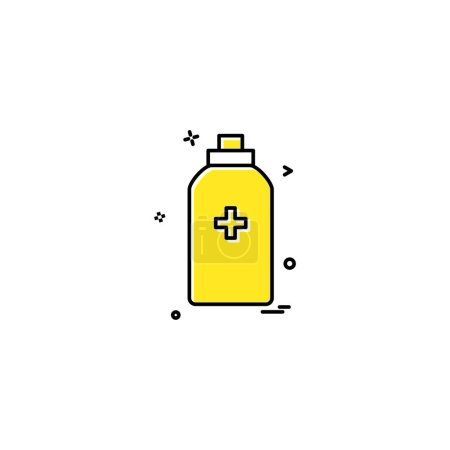 Bottle tool first aid spary icon vector desig...