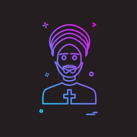 Father icon design vector...