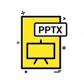 pptx file format icon vector design