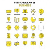 Business Icon Set Yellow Futuro Latest Design icon Pack