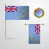 Tuvalu flag icon vector illustration