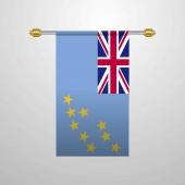 Tuvalu hanging Flag vector illustration