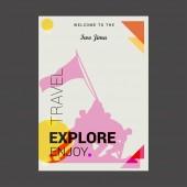 Welcome to Iwo Jima USA Explore Travel Enjoy Poster Template