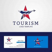 Travel Norway flag Creative Star Logo and Business card design