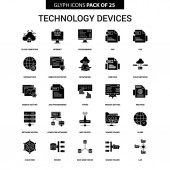 Technology Device Glyph Vector Icon set