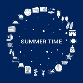 Creative Summer Time icon Background