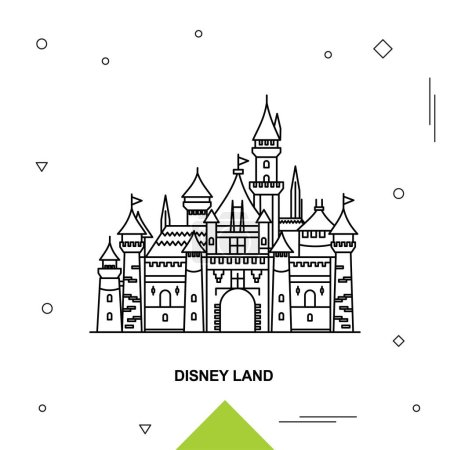 Illustration for DISNEY LAND. Vector illustration - Royalty Free Image