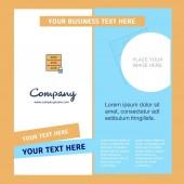 Locked cupboard Company Brochure Template Vector Busienss Template