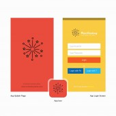 Company Blast Splash Screen and Login Page design with Logo template Mobile Online Business Template