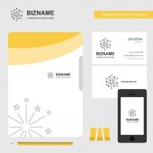 Blast Business Logo File Cover Visiting Card and Mobile App Design Vector Illustration
