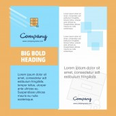 Company Brochure Title Page Design Company profile annual report presentations leaflet Vector Background