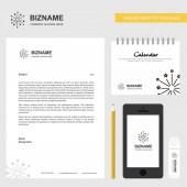Blast Business Letterhead Calendar 2019 and Mobile app design vector template