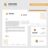 Locked cupboard Business Letterhead Envelope and visiting Card Design vector template