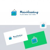 Image frame vector logotype with business card template Elegant corporate identity - Vector