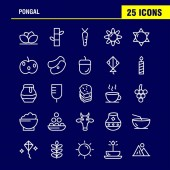 Pongal Line Icon Pack For Designers And Developers Icons Of Flower Herbal Lily Lotus Spa Bamboo Beauty Spa Vector