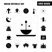 Indian Republic Day Solid Glyph Icon Pack For Designers And Developers Icons Of Kite Festival Flying India Indian Pot Food Day Vector