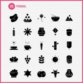 Pongal Solid Glyph Icon Pack For Designers And Developers Icons Of Flower Herbal Lily Lotus Spa Bamboo Beauty Spa Vector