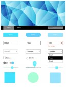 Light Blue Green vector wireframe kit with crystals Ui Ux kit with colorful polygonal background in its header Beautiful layout for websites landing pages
