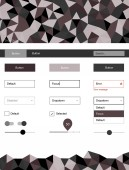 Light Gray vector design ui kit with mosaic Modern Style guide in polygonal style with triangles Beautiful layout for websites landing pages
