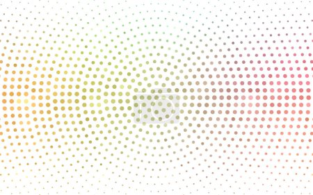 Illustration for Light Green, Red vector  pattern with spheres. Glitter abstract illustration with blurred drops of rain. Pattern for futuristic ad, booklets. - Royalty Free Image