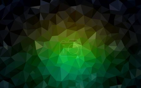 Illustration for Dark Green, Red vector abstract polygonal template. Colorful illustration in abstract style with triangles. A new texture for your web site. - Royalty Free Image