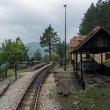 : Trolley on small station of so called Sargan Eig...