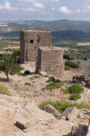 Photo for Ancient Behramkale fortress ruins - Royalty Free Image