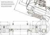 Computer aided design systems Technical illustrations background Mechanical