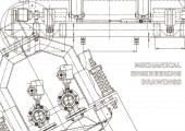 Computer aided design systems Technical illustrations backgrounds Mechanical engineering drawing Machine-building industry Instrument-making drawings Blueprint diagram plan