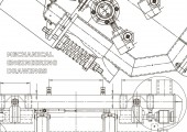 Computer aided design systems Technical illustrations backgrounds Mechanical engineering drawing Machine-building industry Instrument-making
