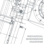 Corporate Identity Computer aided design systems Blueprint scheme plan sketch Technical illustrations backgrounds Industry