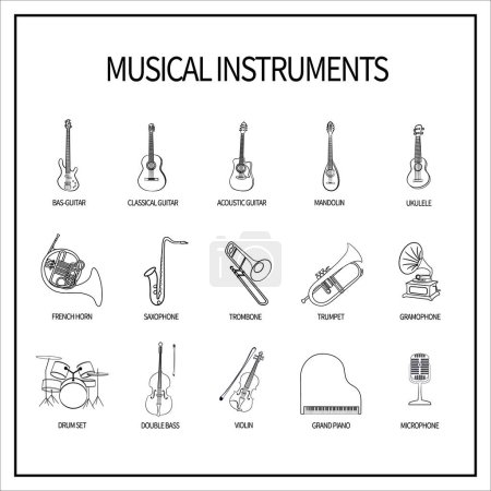 set of icons musical instruments