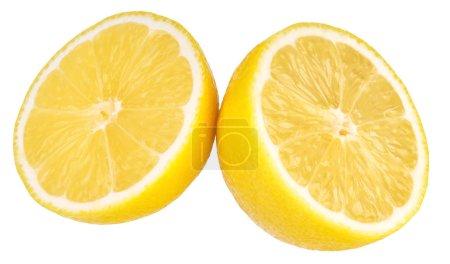 Photo for Ripe half of lemon isolated on white background . - Royalty Free Image