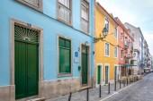 Colorful houses in Chiado, Portugal