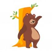 cartoon brown grizzly bear