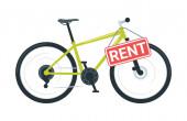Sport bike rental vector illustration