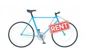 Bike rental business vector illustration
