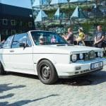 City Riga, Latvian republic. Retro car party. Oldt...