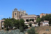 TOLEDO, SPAIN - MAY 25, 2017: The monastery of San Juan de los Reyes is a Catholic Franciscan monastery, which was founded at the end of the 15th century.
