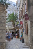 Historic medieval streets of Trogir, Croatia