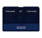 Scoreboard vector score board digital display football soccer sport team match competition on stadium illustration set of score-board championship information isolated on white background
