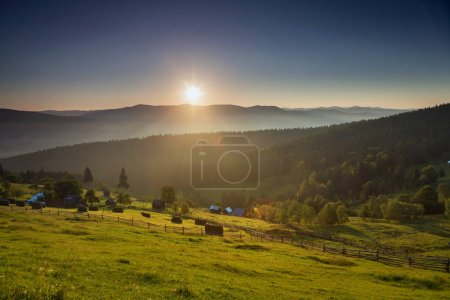 Photo for Beautiful countryside sunrise in the sumemrtime - Royalty Free Image