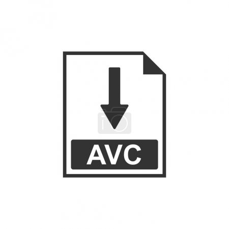 AVC file document icon. Download AVC button icon i...