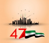 UAE national day background with arabic calligraphy translation : united arab emirates national day 02 december  vector illustration
