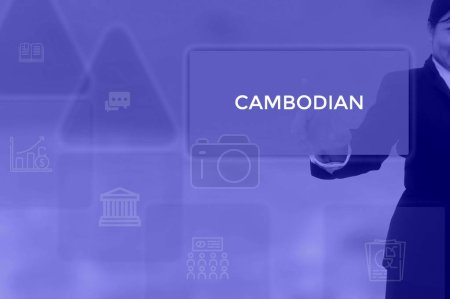 Photo for CAMBODIAN - technology and business concept - Royalty Free Image