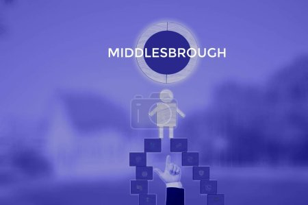 Photo for MIDDLESBROUGH - technology and business concept - Royalty Free Image