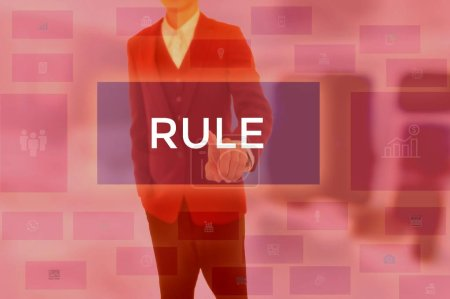 Photo for RULE - technology and business concept - Royalty Free Image