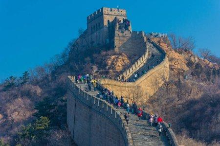 Photo pour La Grande Muraille de Chine, section de Badaling, Chine - image libre de droit