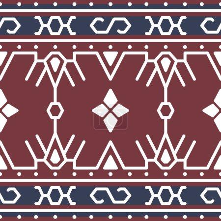 Illustration pour Modèle de tissu traditionnel indonésien, conception vectorielle Tenun Sumba Etnic Soga - image libre de droit