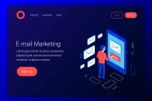 Email marketing isometric concept Communication concept